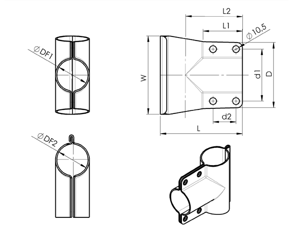 AN 260 Stainless Steel Connection Joints  sketch