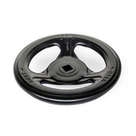 GN 227.7 Steel Sheet Metal Valve Handwheels Color: SWK - Black, RAL 9005