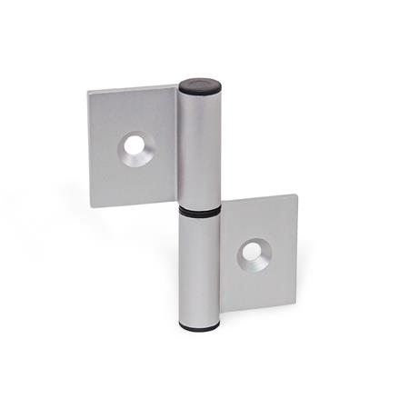 GN 2294 Aluminum Double Winged Hinges, for Profile Systems / Panel Elements Type: A - Exterior hinge wings Identification : C - With countersunk holes