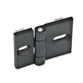 GN 161 Zinc Die-Cast Hinges, for Profile Systems