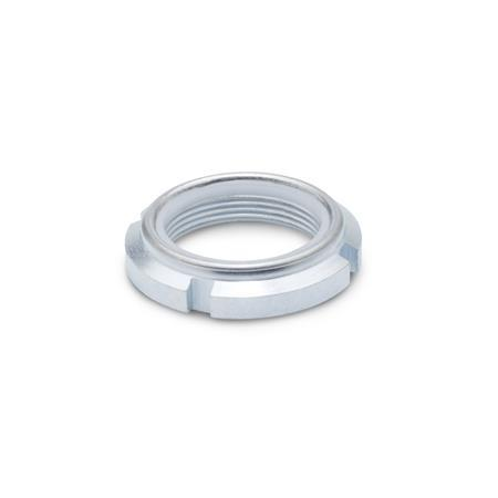 Winco 1804.1-M12X1 Slotted Spanner Lock Nut with Polyamide Insert GN1804.1 Steel Zinc Plated M12 x 10.0 J.W