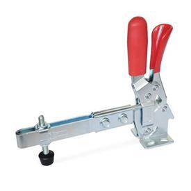 GN 810.3 Clamps de actuación vertical con brazo extendido de acero, con gancho de seguridad, con base de montaje horizontal Tipo: ULC