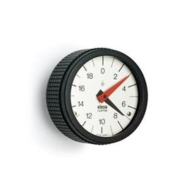 EN 5348 Technopolymer Plastic Knurled Control Knobs with Position Indicator, Gravity Drive with Analog Display