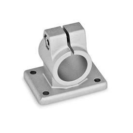 GN 146 Aluminium, noix de serrage avec embase Finition: BL - blanc, baratté