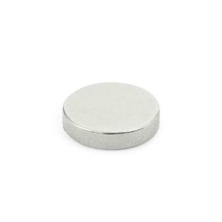 GN 55.2 Unshielded Raw Magnets, Disk-Shaped, without Hole Magnet material: ND - NdFeB