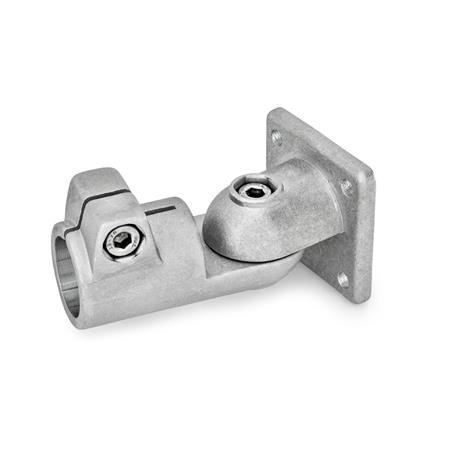 GN 282 Aluminum, Swivel Clamp Connector Joints Type: S - stepless adjustment Finish: BL - Plain, tumbled finish Identification No.: 2 - With 2 DIN 912 stainless steel clamping screws