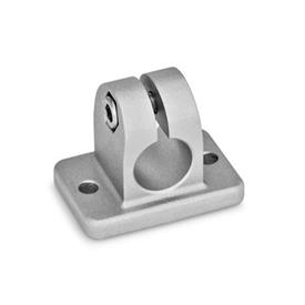 GN 145 Aluminumm,  Flanged Connector Clamps Finish: BL - Plain, tumbled finish