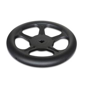 GN 228 Steel Sheet Metal Spoked Handwheels, without Handle Material: ST - Steel<br />Bore code: V - With square<br />Type: A - Without handle