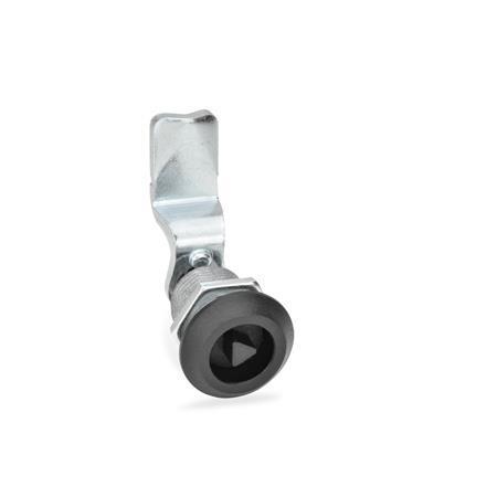 GN 516 Cerrojos de compresión de zinc fundido a presión Tipo: DK - Funcionamiento con eje triangular (DK7)