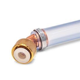GN 880.1 Conectores para válvulas de drenaje de líquido GN 880, con manguera de drenaje Tipo: B - Conexión 45°