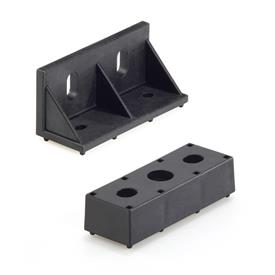 EN 646.7 Plastic Mounting Brackets and Supports for Carrier Rail Profiles