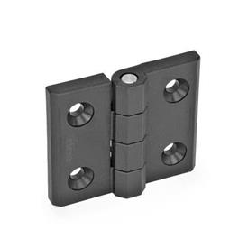 EN 239.3 Technopolymer Plastic Hinges without Switch, to Accompany EN 239.4 Hinges with Integrated Switch