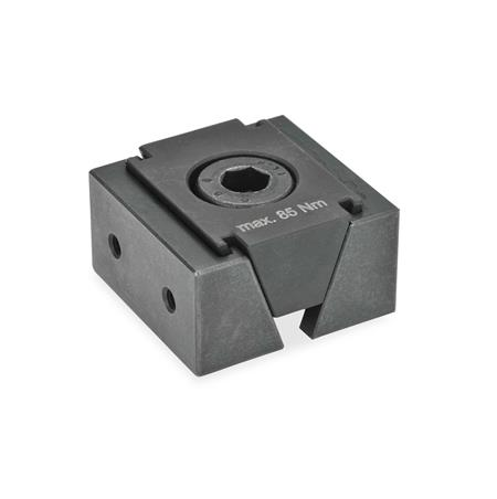 GN 920.1 Steel Wedge Clamps Type: GA - With 2 mounting threads for attachment jaws