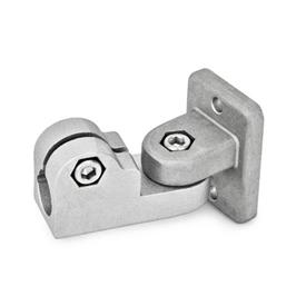 GN 281 Aluminum, Swivel Clamp Connector Joints Finish: BL - Plain, tumbled finish<br />Identification No.: 2 - With 2 DIN 912 stainless steel clamping screws