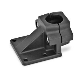 GN 166 Aluminum, Off-Set Base Plate Connector Clamps Finish: SW - Black, RAL 9005, textured finish