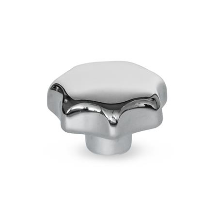 GN 6336 Stainless Steel AISI 316 Star Knobs, with Tapped Through or Tapped Blind Bore Type: E - With tapped blind bore