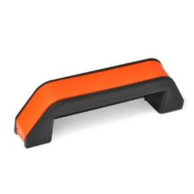 MFA Nylon Plastic Enclosed Safety Pull Handle, Angled, with Through Holes
