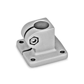 GN 162 Aluminum,  Base Plate Connector Clamps Finish: BL - Plain, tumbled finish
