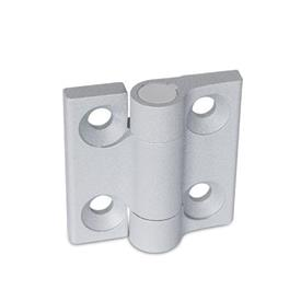 GN 437.1 Zinc Die-Cast Hinges Color: SR - Silver, RAL 9006, textured finish