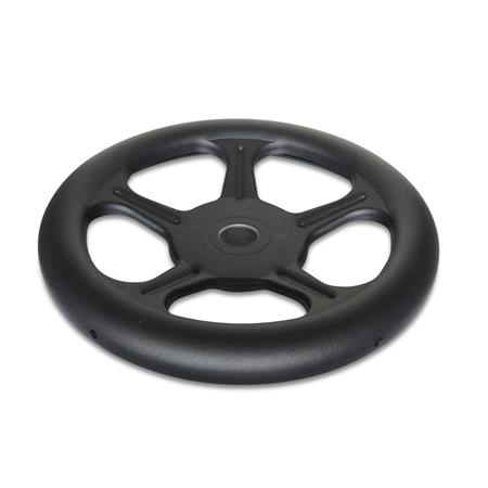 GN 228 Steel Sheet Metal Spoked Handwheels, without Handle Material: ST - Steel Bore code: B - Without keyway Type: A - Without handle