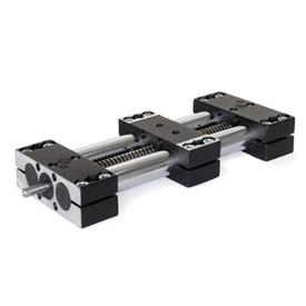GN 491 Steel Double Tube Linear Actuators, with Right '''or''' Left Hand Thread, Single Slider