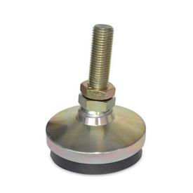 "MAVM Metric Thread, ""Anti-Vibe®"" Anti-Vibration Leveling Mounts, Threaded Stud Type"