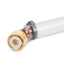 GN 880.1 Conectores para válvulas de drenaje de líquido GN 880, sin manguera de drenaje Tipo: B - Conexión 45°