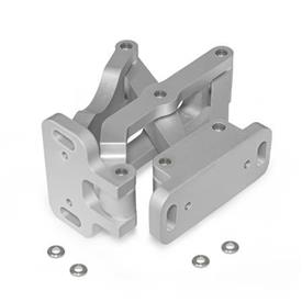 GN 7247 Aluminum Multiple-Joint Hinge, Concealed, with Opening Angle of 180°