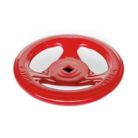 GN 227.7 Steel Sheet Metal Valve Handwheels Color: RTK - Red, RAL 3000