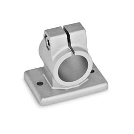 GN 146.3 Aluminum, Flanged Connector Clamps Finish: BL - Plain, tumbled finish