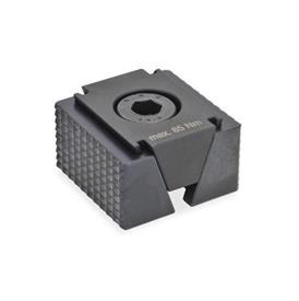 GN 920.1 Crampons plaqueurs doubles en acier Type: RF - Surfaces de serrage à rainures
