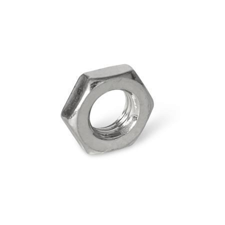 ISO 8675 Tuercas hexagonales delgadas de acero inoxidable, con rosca métrica fina Material: NI - AISI 304