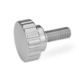 GN 535 Stainless Steel Knurled Screws Finish: PL - Highly polished finish