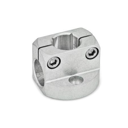 GN 473 Mini abrazaderas de conectores de dos vías de placa base de aluminio Color: MT - Acabado pulido mate