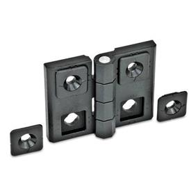 EN 236 Technopolymer Plastic Adjustable Alignment Hinges, with Alignment Bushings