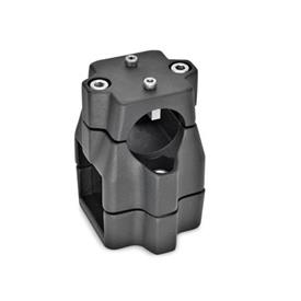 GN 135.1 Aluminum Linear Actuator Connectors, Split Assembly Bildzuordnung<sub>1</sub>: B<br />Bildzuordnung<sub>2</sub>: V