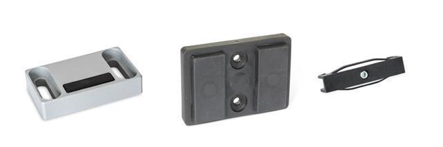 Imanes de retención con forma rectangular