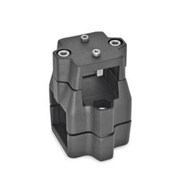 GN 135.1 Aluminum Linear Actuator Connectors, Split Assembly Bildzuordnung<sub>1</sub>: V<br />Bildzuordnung<sub>2</sub>: V