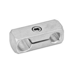GN 474.1 Abrazaderas para conectores paralelos, aluminio Acabado: MT - Acabado pulido mate