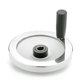 GN 321.4 Solid Disk Aluminum Safety Clutch Handwheels, with Friction Bearing  Type: D - With revolving steel handle