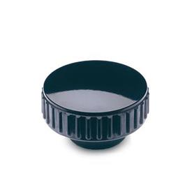 EN 530.5 Tuercas moleteadas de plástico fenólico, con inserto roscado de acero inoxidable
