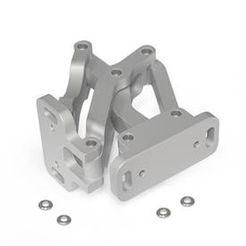 GN 7241 Aluminum Multiple-Joint Hinge, Concealed, with Opening Angle of 90°