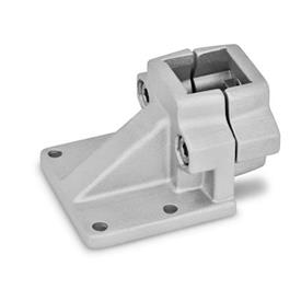 GN 166 Aluminum, Off-Set Base Plate Connector Clamps Finish: BL - Plain, tumbled finish