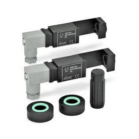 EN 654.2 Plastic Assembly Sets, for Electrical Fluid Level Monitoring for EN 654 / EN 654.1 Fluid Level Indicators Type: NC-NC - 2 switchgears, each of them with one normally closed contact