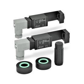 EN 654.2 Juegos de montaje, de plástico, para el monitoreo eléctrico del nivel de líquido para indicadores de nivel de líquido EN 654 / EN 654.1 Tipo: NC-NC - 2 conmutadores, cada uno con un contacto normalmente cerrado