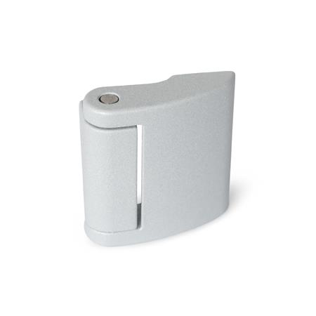 GN 138 Zinc Die-Cast Hinges, with Threaded Blind Bores Color: SR - Silver, RAL 9006, textured finish