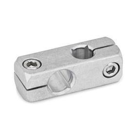 GN 474 Mini-abrazaderas de conectores de dos vías, aluminio Acabado: MT - Acabado liso, pulido mate