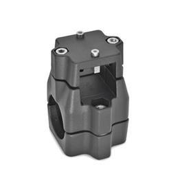 GN 135.1 Aluminum Linear Actuator Connectors, Split Assembly Bildzuordnung<sub>1</sub>: V<br />Bildzuordnung<sub>2</sub>: B