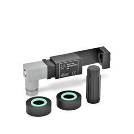 EN 654.2 Juegos de montaje, de plástico, para el monitoreo eléctrico del nivel de líquido para indicadores de nivel de líquido EN 654 / EN 654.1 Tipo: NO - 1 conmutador con un contacto normalmente abierto