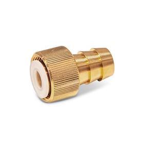 GN 880.1 Conectores para válvulas de drenaje de líquido GN 880, sin manguera de drenaje Tipo: A - Conexión recto